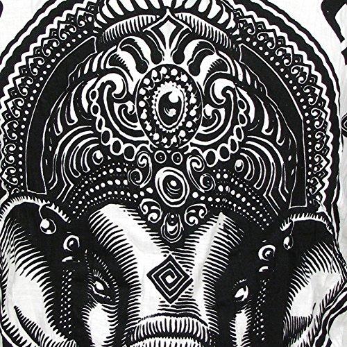 Sure Uomo Taglia T Yoga Bianco Dio Arte L Psichedelica Da Ganesha Budda shirt M Elefante Indù Xl rwnrx7SAq