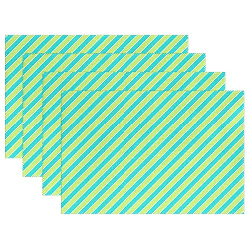 YPink Scrapbook Scrapbooking Stripes Diagonal Paper Placemats Set Of 4 Heat Insulation Stain Resistant For Dining Table Durable Non-slip Kitchen Table Place -