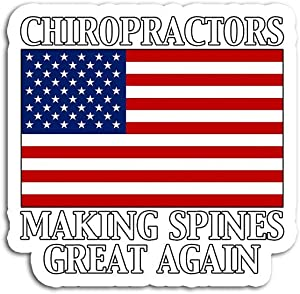 Decal Stickers for Laptop Sticker for Tumblers Chiropractic Making Spines Great Again Chiropractor Waterproof Decal Perfect for Phone Water Bottle Vehicles (5 Pcs/Pack)