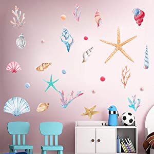 WEWINLE Nursery Wall Stickers, Underwater World Wall Decals Mural for Living Room Bedroom Kids Rooms Home Décor Decal (Underwater World)
