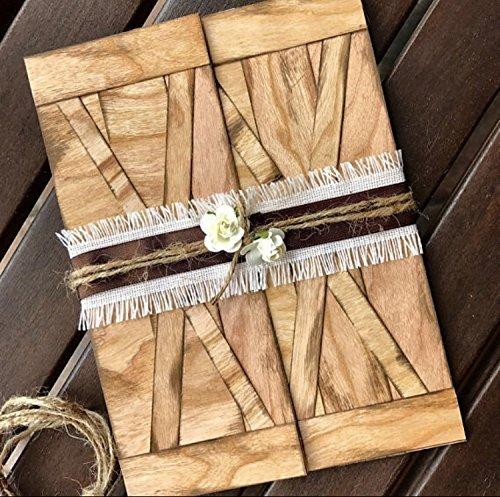 Amazon Barn Door Wedding Invitation Set With Real Wood Handmade