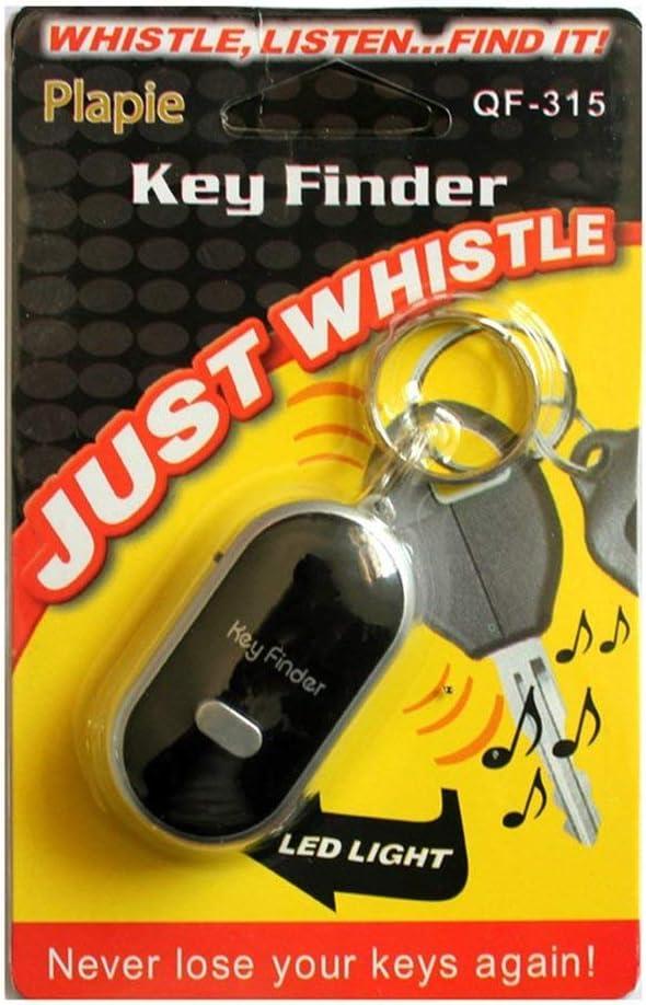vbncvbfghfgh LED Whistle Key Finder Flashing Beeping Sound Control Alarm Anti-Lost Keyfinder Locator Tracker with Keyring