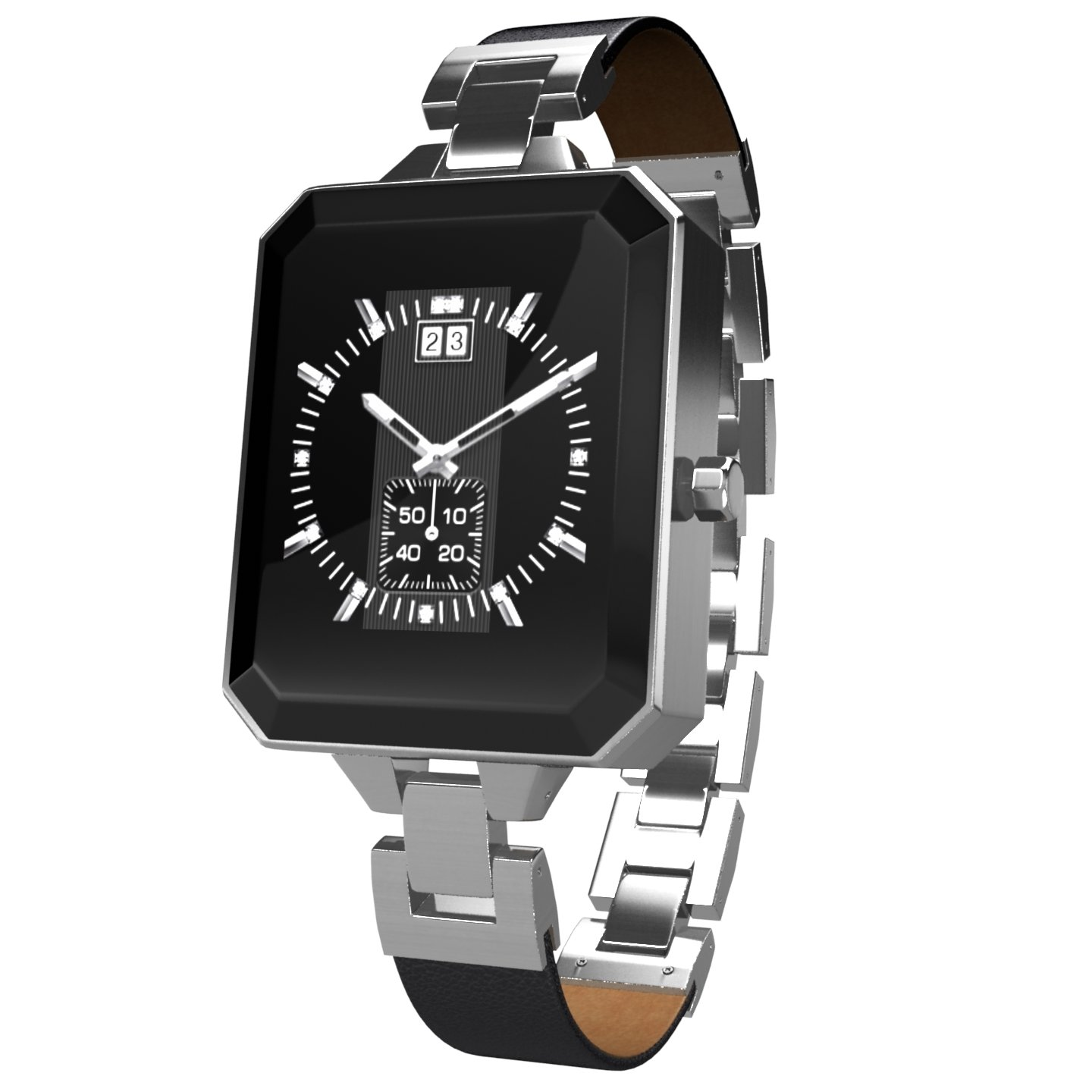 KARACUS K2MS METALLIC SILVER DIONE SMART WATCH WITH 6 PATTERN