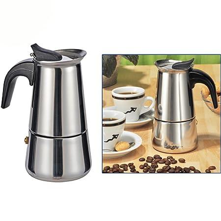 Espresso eléctrica Maker Acero Inoxidable Cafetera expreso 2 tazas ...