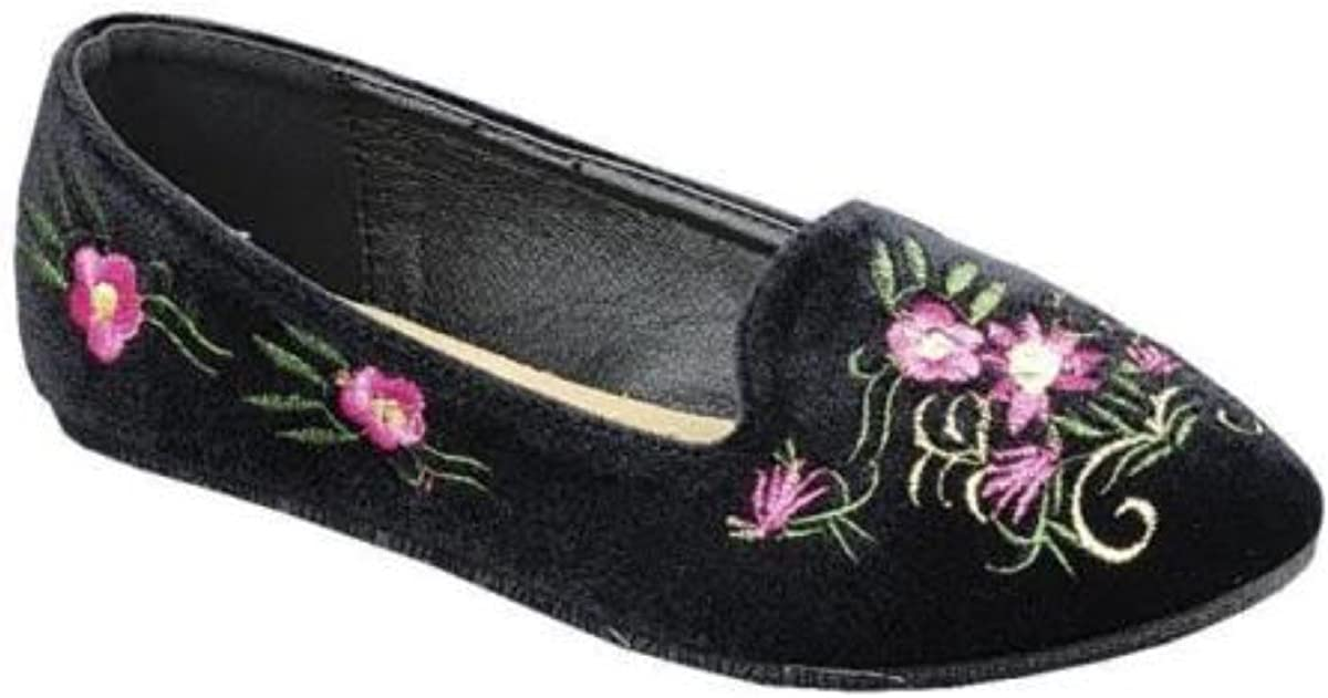 Girls Fashion Embroidered Ballet Ballerina Loafers Flat Dance Dolly Shoes/…
