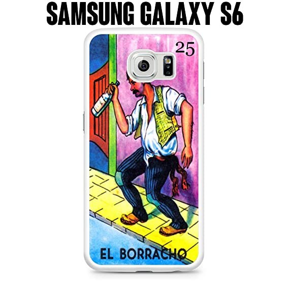 amazon com phone case el borracho loteria for samsung galaxy s6