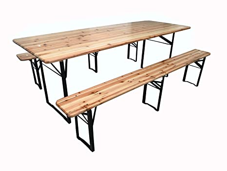 Tavolo Con Panca Per Esterno.Michele Sogari Set Birreria Completo Tavolo 220 X 80 X 76 Con Panche