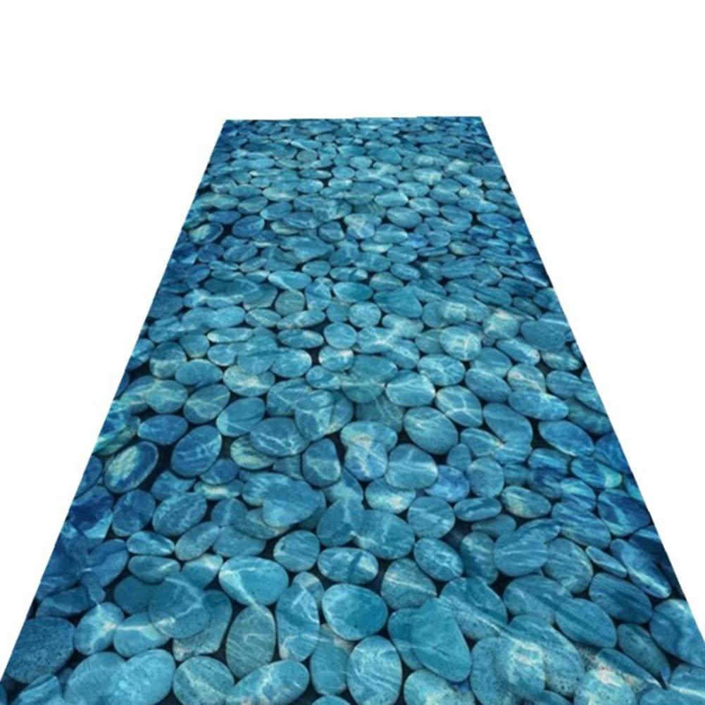 HAIPENG 廊下のカーペット 青 石 ランナー ラグ エクストラロング 廊下 3D エリアラグ 滑り止め エントリ 敷物 にとって キッチン そして 入り口 カスタマイズされた (色 : A, サイズ さいず : 1.6x7m) 1.6x7m A B07P81KH6R