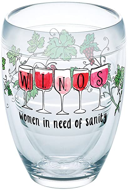 264ba555ccb Buy Tervis 1248218 Winos - Women in Need of Sanity Tumbler with Wrap 9oz  Stemless Wine Glass