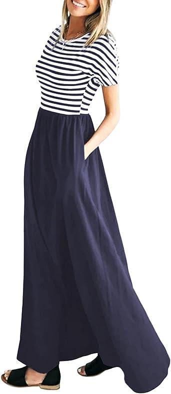 Vestiti Cerimonia Sera.Vestiti Donna Lunghi Manica Corta Estivi Eleganti Lungo Vestito