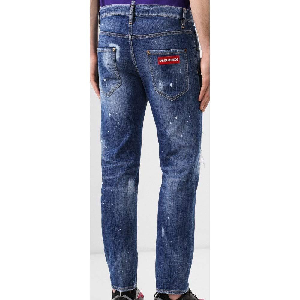 DSQUARED2 Pantalones Vaqueros de algodón Ajustados ...