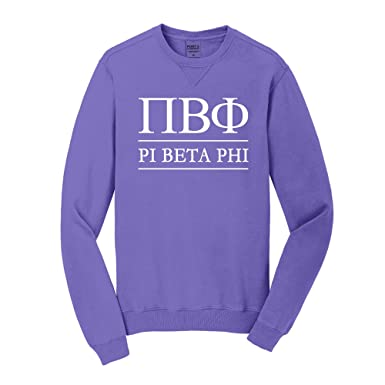 sorority letters shop pi beta phi vintage color crewneck unisex s amethyst