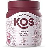 KOS Organic Beet Root Powder - Natural Nitric Oxide Boosting Beet Root Powder - USDA Organic, Stamina Increasing, Circulation