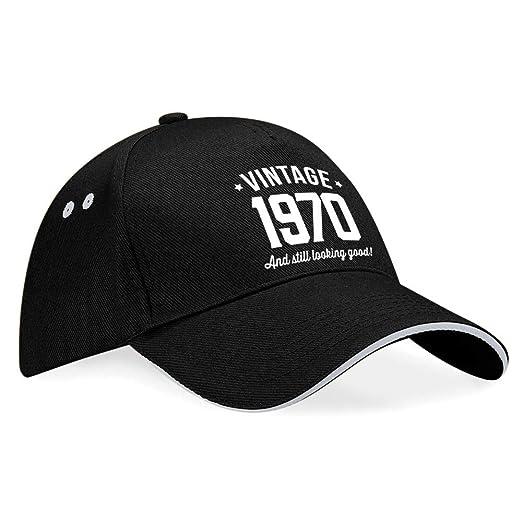 Gorra de béisbol de 50 cumpleaños - Para hombre y mujer - Como regalo divertido o recuerdo - Azul marino - Talla única apta para todos