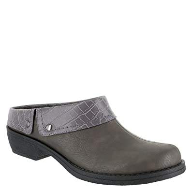 Easy Street Women's Becca Mule, Grey/Crocodile, ...