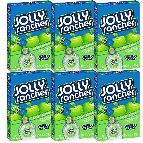 Jolly Rancher Drink Mix Green Apple -- 6