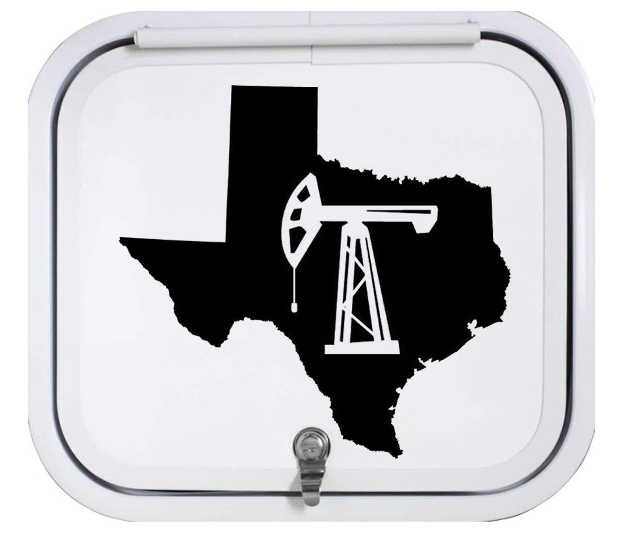 Texas Oil Pumpjack Black Decal Sticker 12.0 Inch BG 425