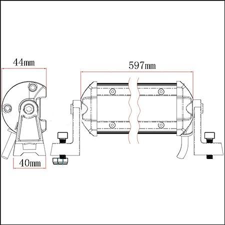 Amazon Com Xbs Godv 24 Inch 63w Single Row Led Light Barled Cree