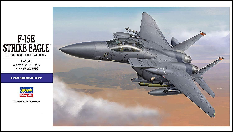 Hasegawa 01569 F-15E Strike Eagle 1//72 Scale E Series US Air Force Fighter Aircraft Model Kit