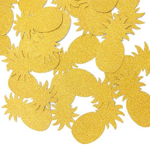 le Confetti Gold Pineapples Luau Party Confetti Summer Party Confetti Pool Party Confetti Glitter Party Decor ()
