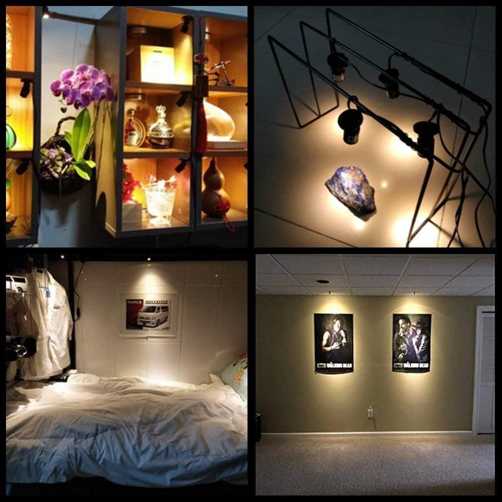 Jorunhe 1.5w LED Mini Surface Mounted Light Jewelry Cabinet Lamp Spotlight Ac85-265v Pack-4,Warm White 3000k