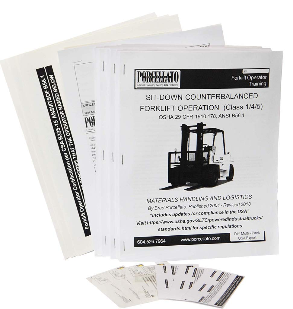 Forklift Operator Training Kits 3 Diy Usa Amazon Industrial