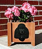Poodle Planter Flower Pot Black For Sale