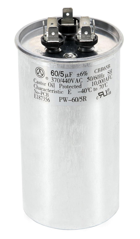 New Oval Motor Run Capacitor 60MFD 440v AC Motor HVAC 440 vac v volts 60 uf MFD