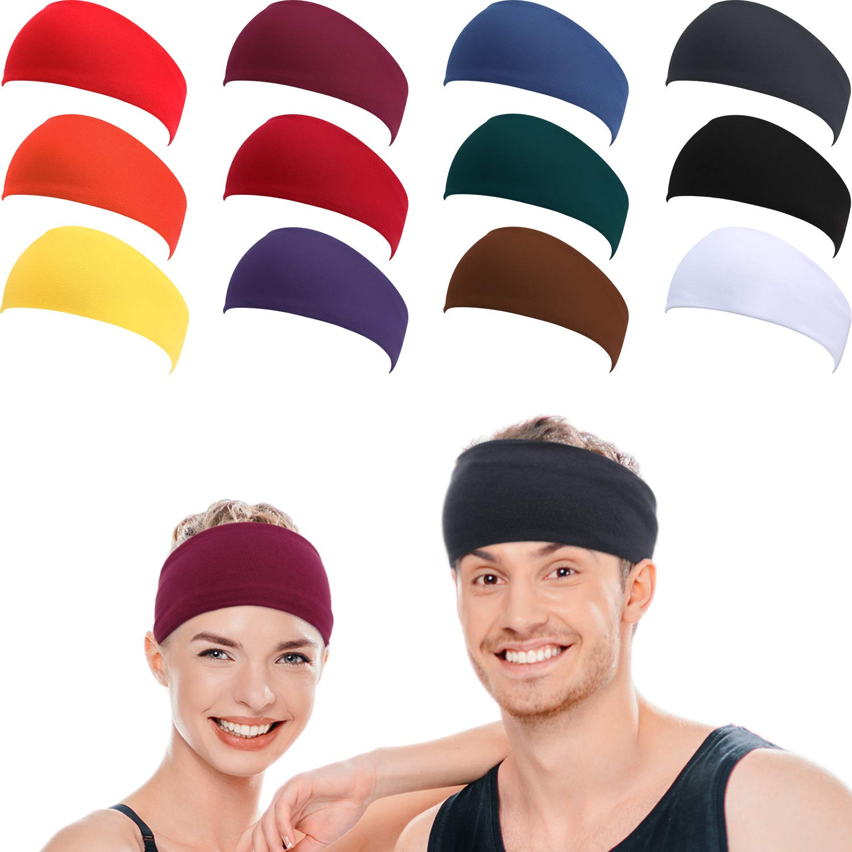 3Pcs Outdoors Cycling Elastic Headband Sweat Bands Sport Sweatband Hair Bands