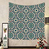 Gzhihine Custom tapestry Arabian Decor Tapestry Mod Graphic Design of Classic Ancient Eastern Islamic Art Patterns in Retro Nostalgic Colors Bedroom Living Room Dorm Decor 60 x 80 Multi