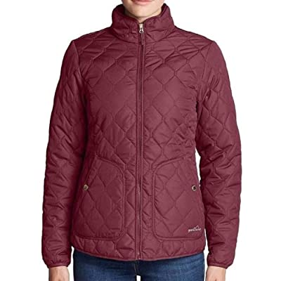 Eddie Bauer Women's Year Round Quilted Field Jacket (Medium, Dark Berry) at Women's Coats Shop