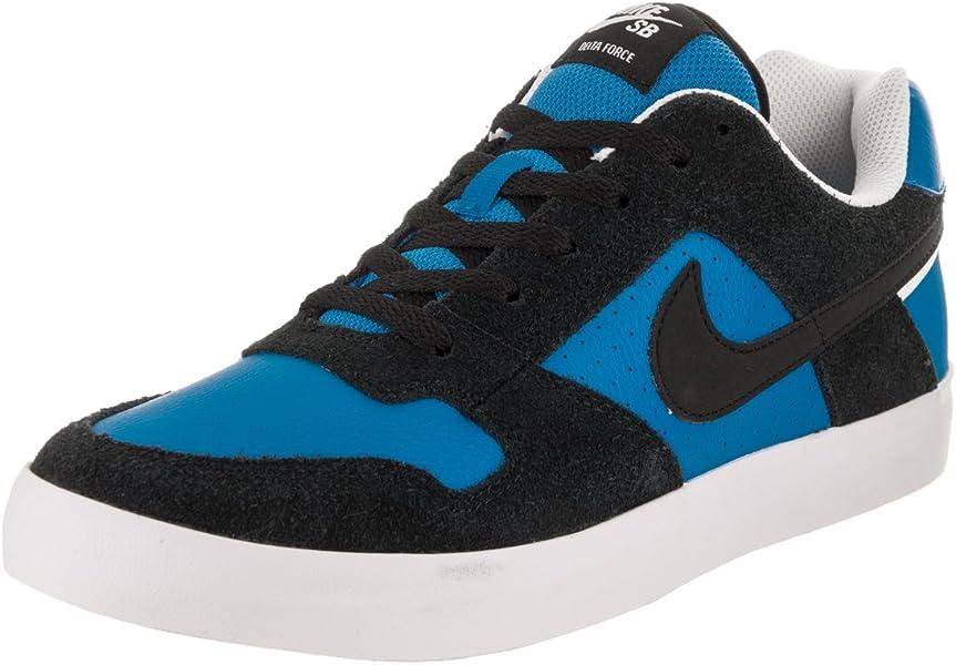 20ff9a464a48 Nike Mens Nike SB Delta Force Vulc Skate Shoe Black Black Italy Blue Size  9.5