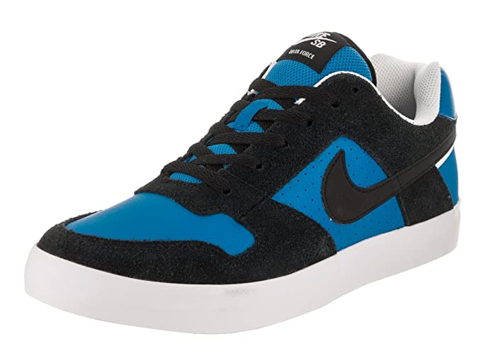 dbd821d6c2 Amazon.com: Nike Mens Nike SB Delta Force Vulc Skate Shoe Black Black Italy  Blue Size 12 : Clothing