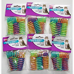 6-Pack Ethical Pet Colorful Springs Cat Toys * 10 Toys per Pack 56