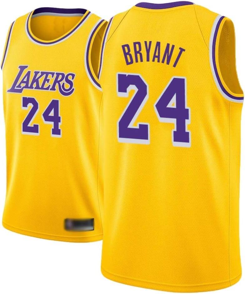 WOLFIRE SC Camiseta de Baloncesto para Hombre, NBA, Los Angeles Lakers #8#24 Kobe Bryant. Bordado Swingman Transpirable y Resistente al Desgaste Camiseta para Fan