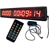 "1.8"" High Character LED Countdown/up Clock Support up to 10000 Days Countdown IR Remote Control"