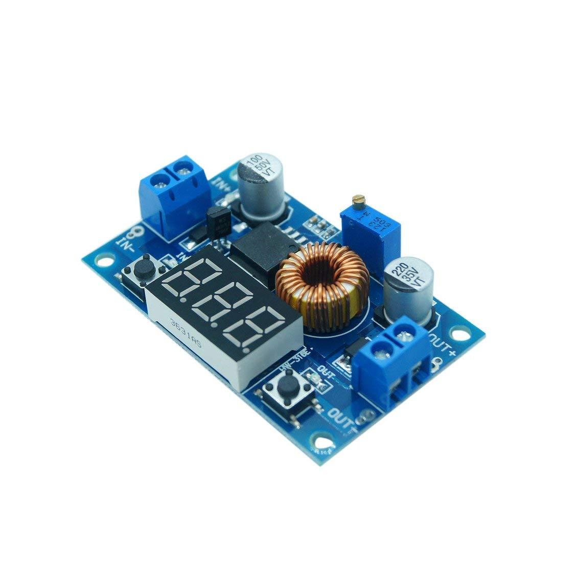 DC-DC Step Down Converter 5-36V a 1.25-32V 5A Buck Regulador de voltaje con pantalla digital LED Convertidor de voltaje