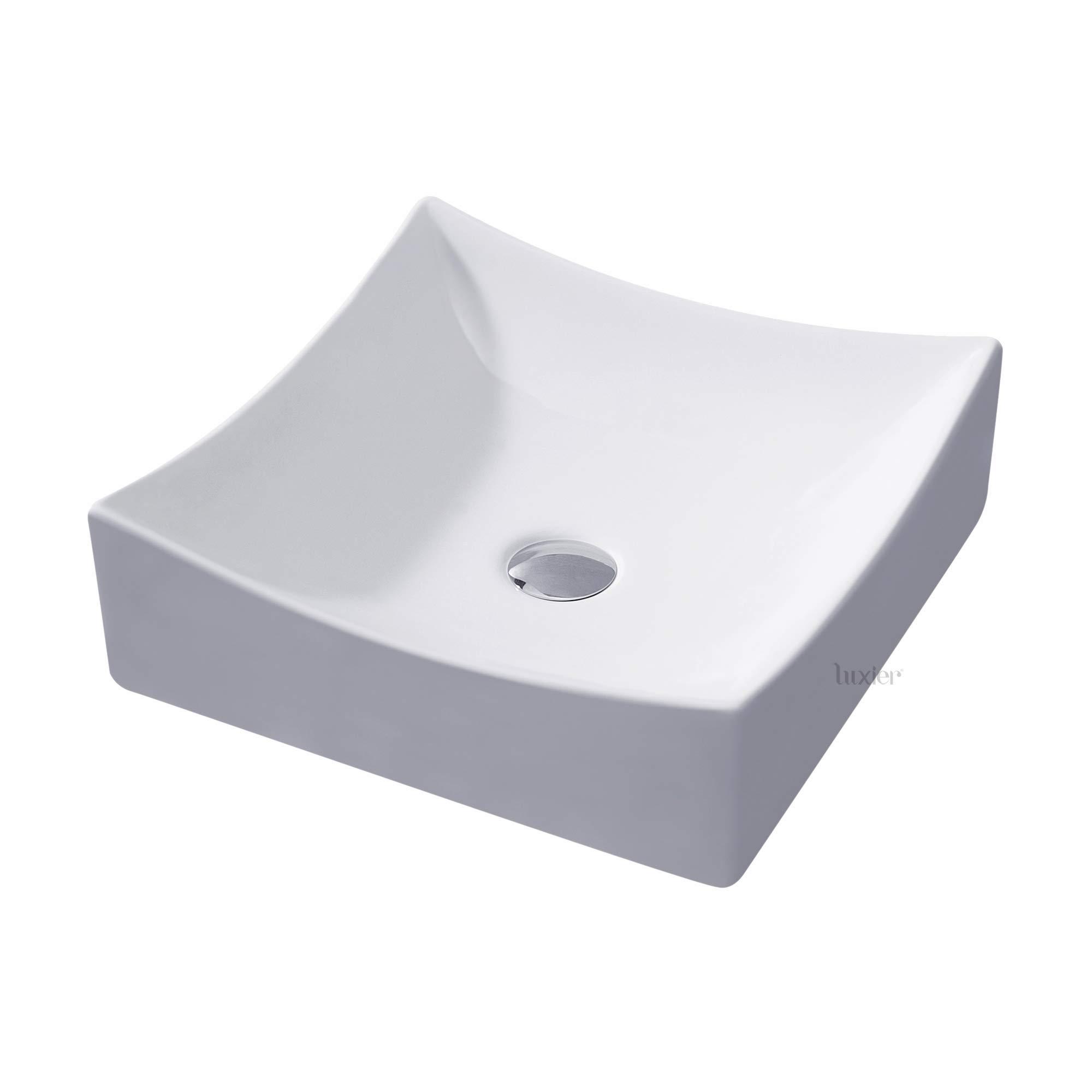 Luxier CS-016 Bathroom Porcelain Ceramic Vessel Vanity Sink Art Basin