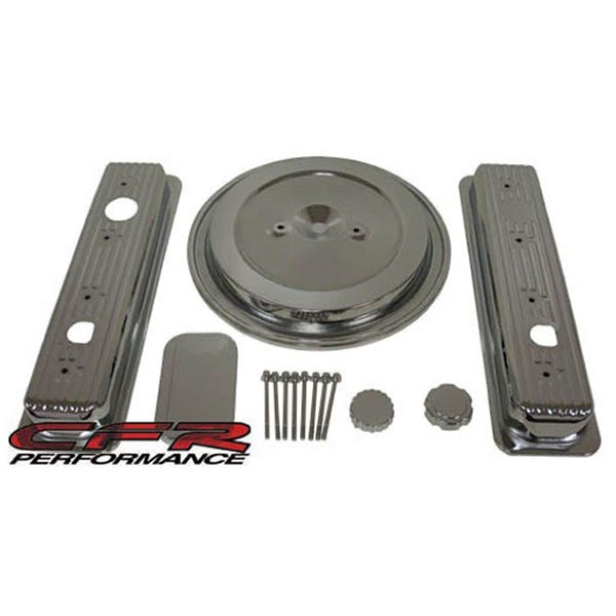 Smooth 1993-94 Chevy//GMC 5.0L /& 5.7L Truck Chrome Steel Engine Dress Up Kit