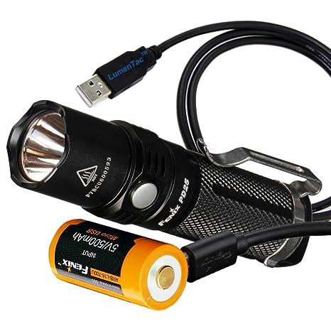 Amazon.com: Fenix PD25 550 lúmenes CREE XP-L linterna LED de ...