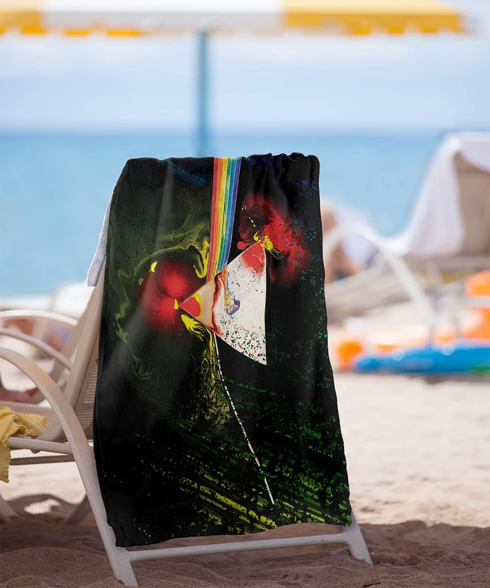 "Pink Floyd /""Dark Side Of The Moon/"" Dye Sublimation Microfiber Beach//Bath Towel"