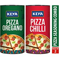 Keya Pizza Seasoning Combo Pack of Italian Pizza Oregano (80G) and Italian Pizza Chilli (70G) …