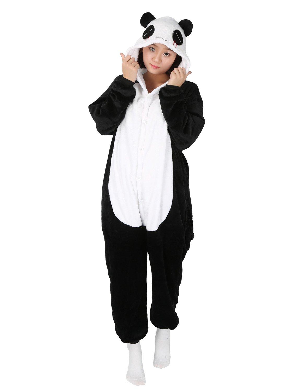 Panda Adulte Kigurumi Unisexe Anime Animal Costume Cosplay Combinaison Pyjama ou D/éguisement Taille S