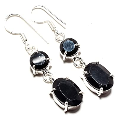 e63b160891b Buy Beautiful Black Onyx Gemstone Earring Handmade 925 Sterling Silver  Plated Jewelry -Dangle and Drop Earring -(SF-2366) Online at Low Prices in  India ...