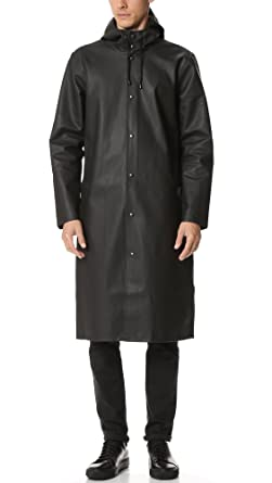 Stutterheim Men's Stockholm Long Raincoat, Black, Large at Amazon ...