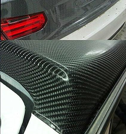 DIYAH 4D Black Carbon Fiber Vinyl Wrap Sticker with Air Realease Bubble Free anti-wrinkle 12 x 60 // 1FT x 5FT