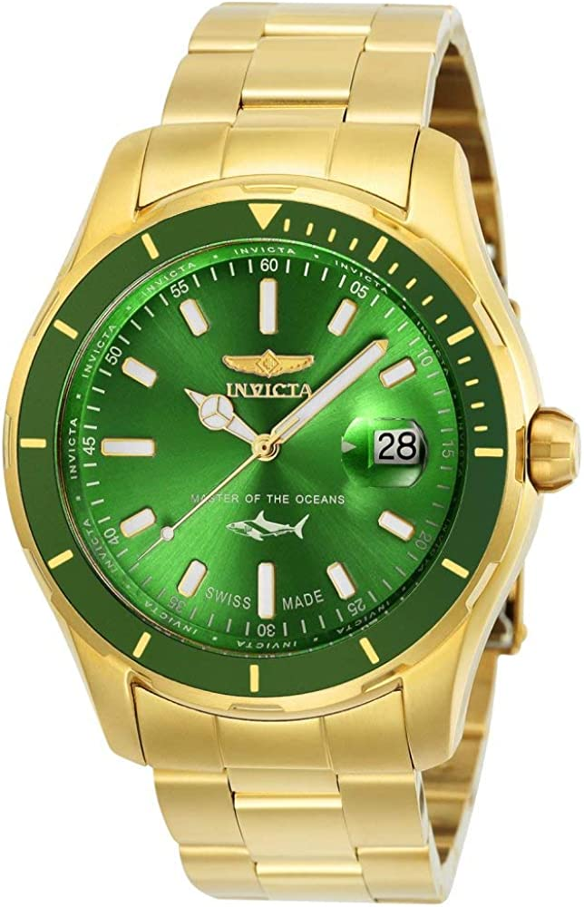 Invicta Men s Pro Diver Quartz Watch with Stainless-Steel Strap, Gold, 22 Model 25812