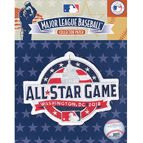 (Official 2018 All Star Game MLB Washington Nationals Sleeve Jersey Logo Patch)