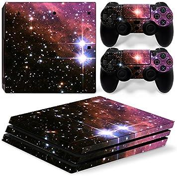 Skins4u® - Vinilos protectores de varios diseños para Sony PlayStation 4 PRO, con 2 adhesivos para los mandos de la PS4., Galaxia: Amazon.es: Deportes y aire libre