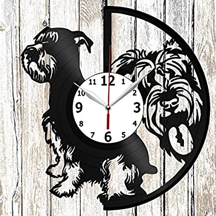Amazoncom Schnauzer Dog Vinel Record Wall Clock Home Art